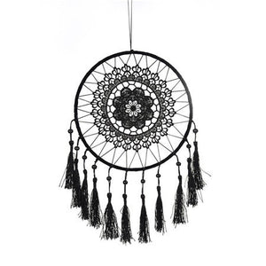 Vintage Handmade Dream Catcher with Cotton Tassels