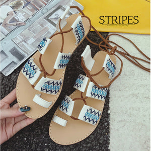 Retro beach shoes Roman strap student shoes