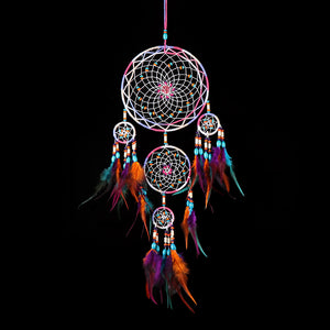 Indian Style Colorful Big Dream Catcher with Feather