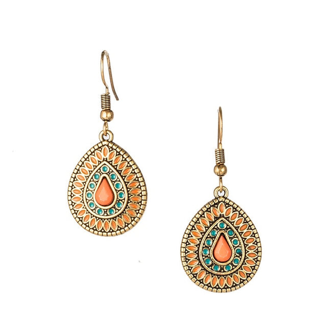 Vintage Luxury Drop Earrings