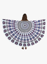 Spiritual Warrior purple round towels are both fun and high quality. These round mandala towels are the best summer accessory for the beach, picnic and as a throw.