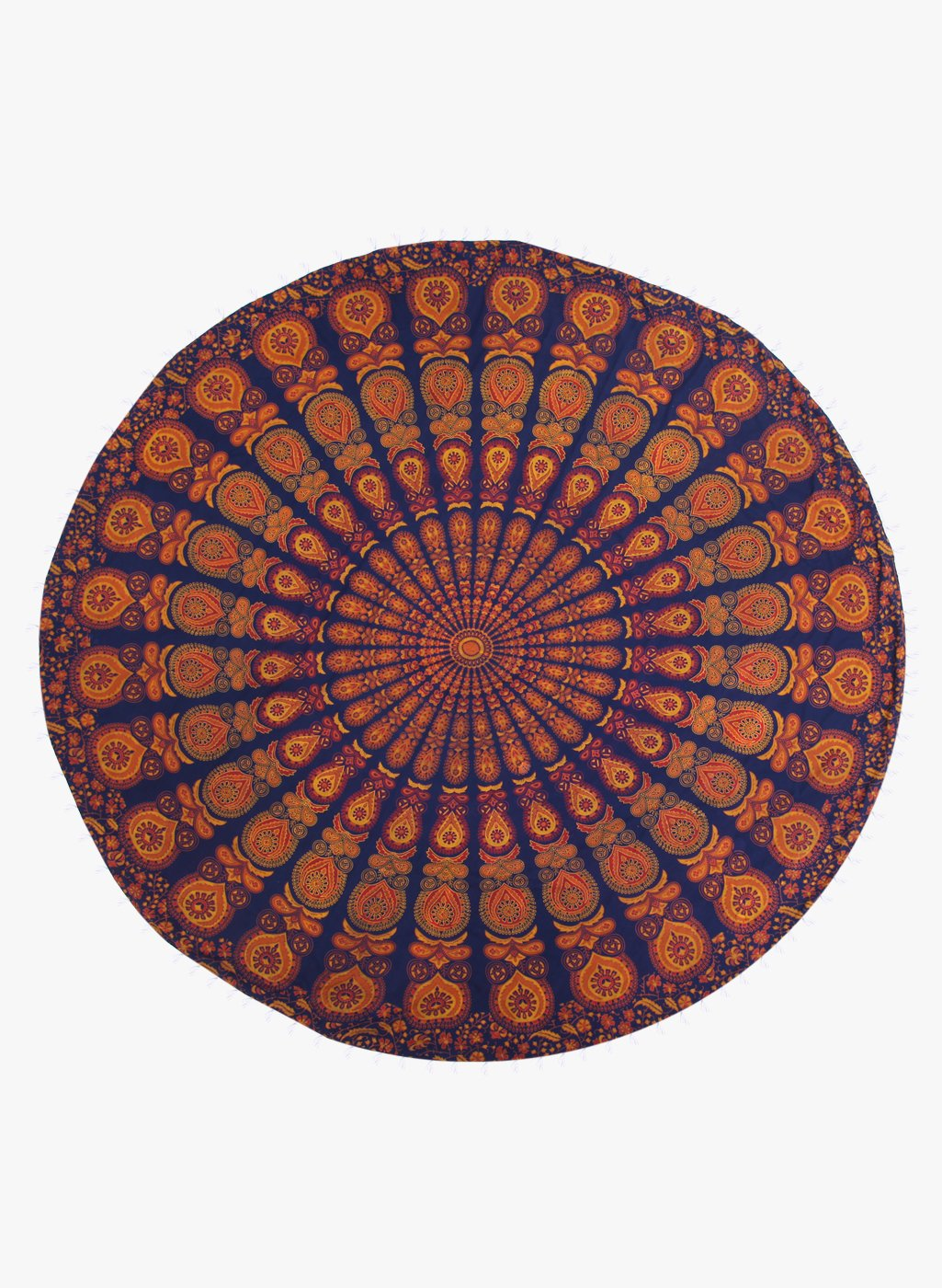 Spiritual Warrior yellow round towels are both fun and high quality. These round mandala towels are the best summer accessory for the beach, picnic blanket and as a throw.