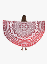 Spiritual Warrior pink round towels are both fun and high quality. These round mandala towels are the best summer accessory for the beach, picnic blanket and as a throw.
