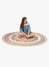 Spiritual Warrior yellow round towels are both fun and high quality. These round mandala towels are the best summer accessory for the beach, picnic and as a throw.