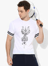 Spiritual Warrior Workout Yoga Athleisure Gym Cotton White T-shirt