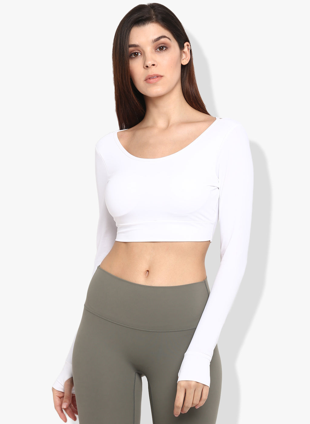 Shakti Warrior Jyoti Crop Top White
