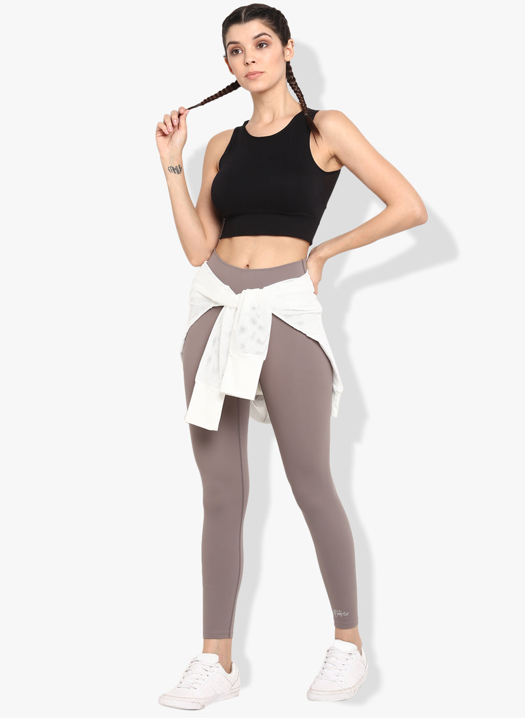 Shakti  Warrior Aarya Workout Leggings Grey