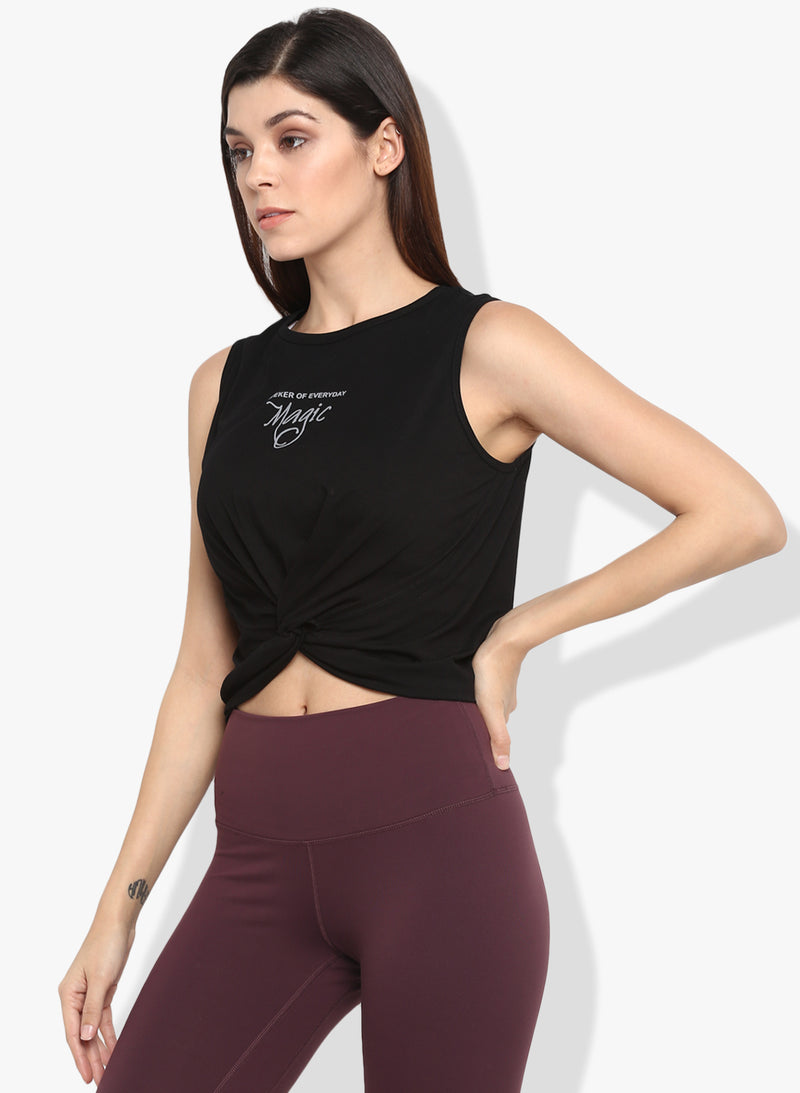 Shakti  Warrior Amani Crop Top Black