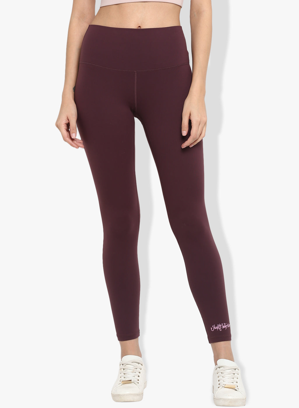 Shakti Warrior Workout leggings yoga pants burgandy