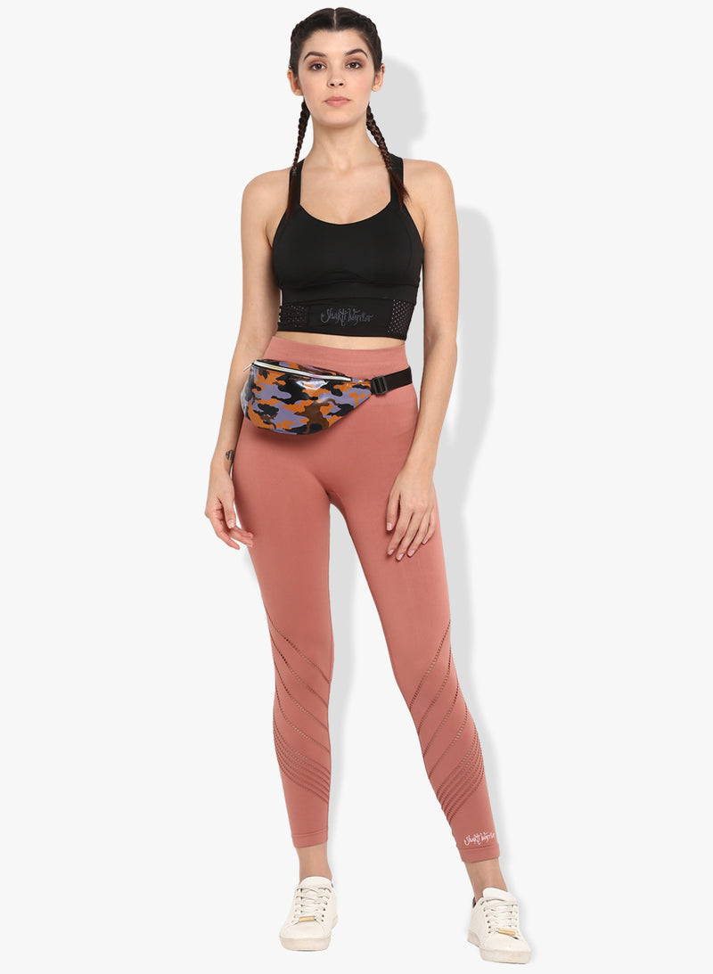 Shakti Warrior Workout Volcanic Red Leggings