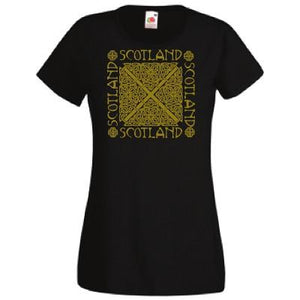 Celtic Knot, Gold Print, Lady Fit T-Shirt