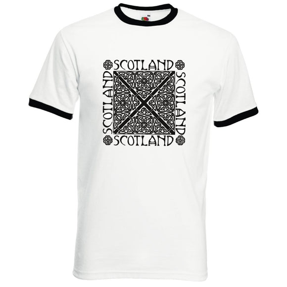 Celtic Knot Design, Printed Ringer T-Shirt