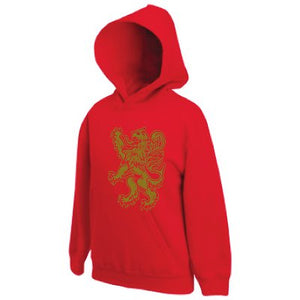 Gold Rampant Lion Design, Childrens Pullover Hoodie