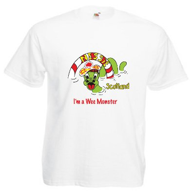Loch Ness Monster, Fun Childrens T-Shirt