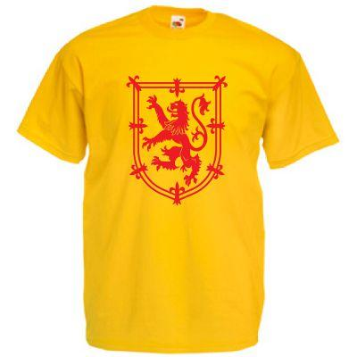 Red Rampant Lion Design, Adults T-Shirt