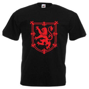 Red Rampant Lion Design, Childrens T-shirt