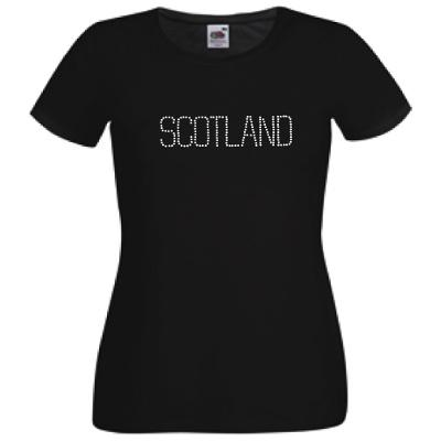 Rhinestone Scotland Design, Lady Fit T-Shirt