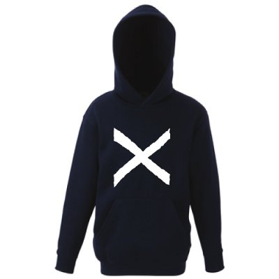 St Andrews Cross, Childrens Printed Pullover Hoodie