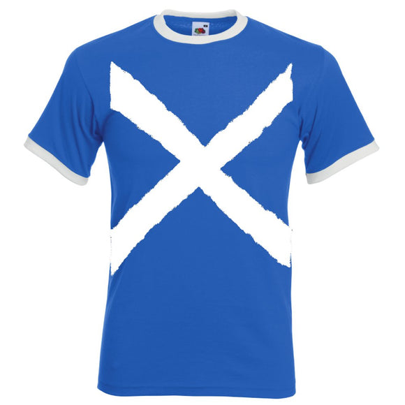 St Andrews Cross, Printed Ringer T-Shirt