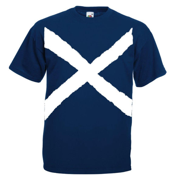 St Andrews Cross, Printed Adults T-Shirt