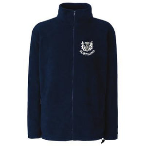 Traditional Thistle Design, Full Zip Fleece