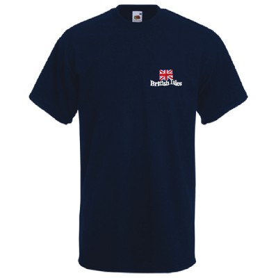 Great British Isles Design, Adult Navy T-Shirt