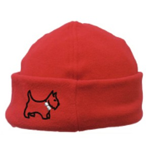 Scottie Dog Design, Microfleece Bob Cap