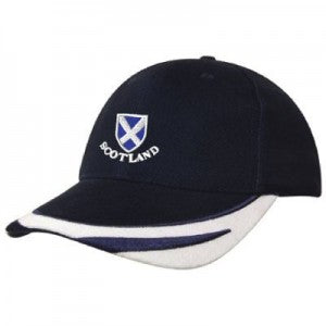 Saltire Shield - Contrasting Trim Baseball Cap