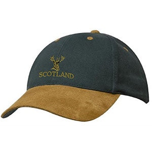 Scottish Stag - Suede Peak Baseball Cap
