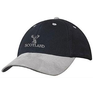 Scottish Stag, Suede Peak Baseball Cap
