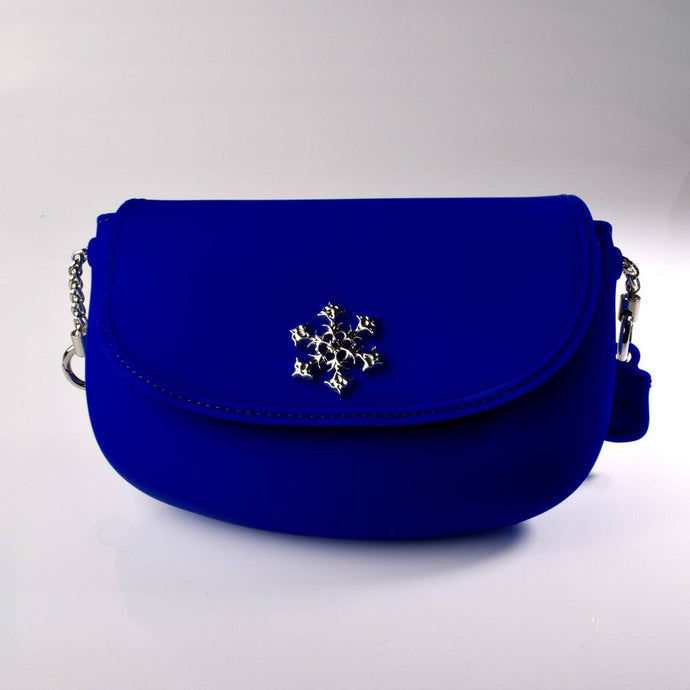 PANNA COTTA SMOOTH Crossbody bag : Blue - Pudinbag