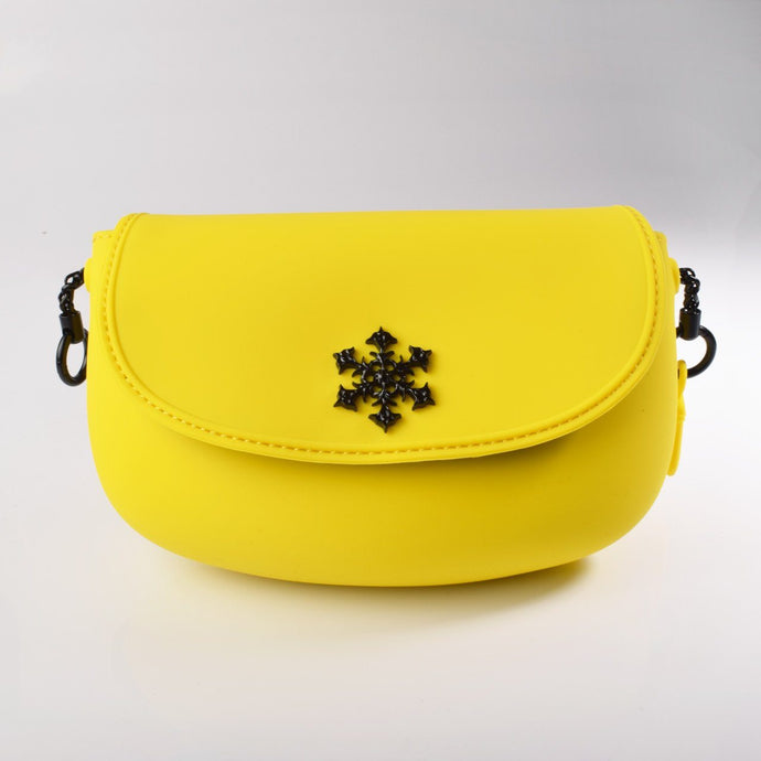 PANNA COTTA SMOOTH Crossbody bag : Yellow - Pudinbag
