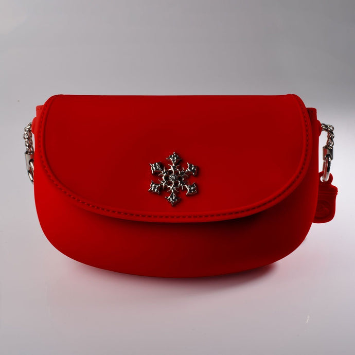 PANNA COTTA SMOOTH Crossbody bag : Red - Pudinbag