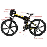 ANCHEER 26 Inch Wheel Folding Electric Mountain Bike with Super Lightweight Magnesium Alloy