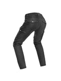 Black Riding Anti-Fall Knee Protective Motorcycle Jeans - Speesion