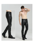 New Stretch Large Size Fashion Motorcycle Leather Pants - Speesion