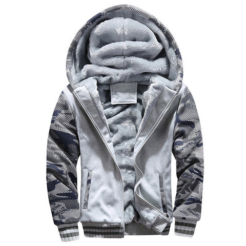 Fleece Hooded Zipper Sweater Jacket - ApparelFlow
