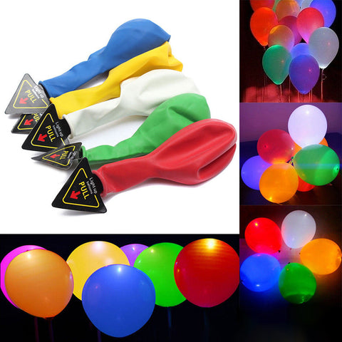 15pcs 12'' LED Multi Color Balloon Pack - ApparelFlow