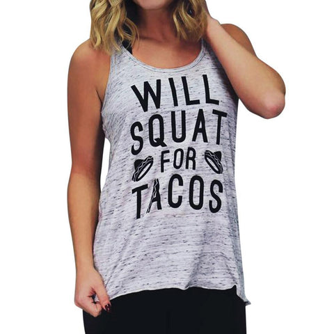 Squat For Tacos Tank Top - ApparelFlow