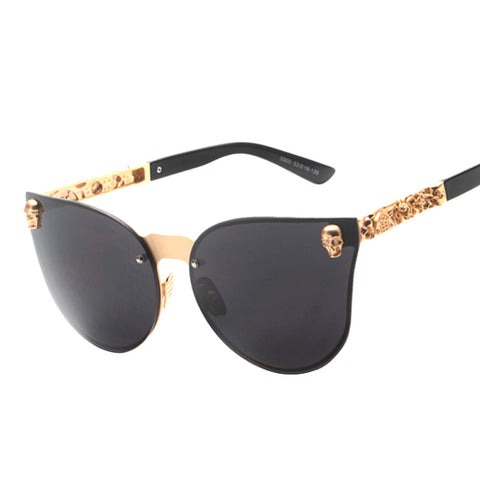 Cat Eye Skull Sunglasses - ApparelFlow
