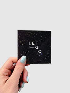 LET GO STICKER