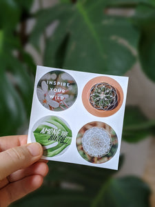 SACRED GEOMETRY IN PLANTS STICKER PACK