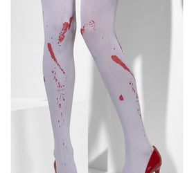 Opaque White Stockings, With Blood Stains