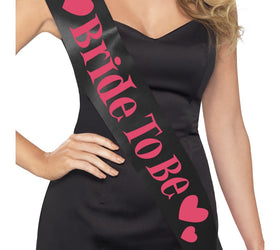 Bride to be Sash, Black