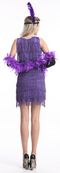 Purple flapper outfit