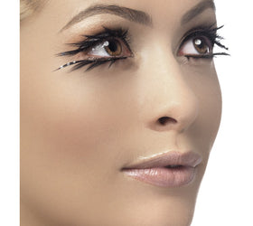 Eyelashes, Black with Sparkle, Top and Bottom Set