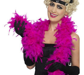 Fuchsia Feather Boa - deluxe