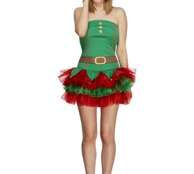Fever Elf Costume, With Tutu Dress