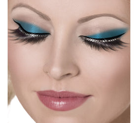 Glamour Eyelashes, Black with Crystals