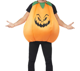 Pumpkin Costume, Orange & Green, Tabard with Hat